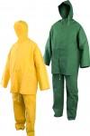 HTDRA Водозащитен костюм с качулка, ПВХ/полиестер, 0.32 мм. Код: 1401-2/3 Размер: L-XXXL Цвят: жълт или зелен Опаковка: 1 комплект в плик EN: 340