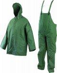 LYRA Полугащеризон и куртка с качулка от ПВХ/ПЕ, 0.32 мм. Код: 1400-3 Размер: M-XXXL Цвят: зелен Опаковка: 1 комплект в плик EN: 340