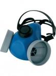 NEW EUROMASK  Гумена полумаска с две гнезда. Код: 7400 Размер: uni Цвят: син Опаковка: 16бр в кашон EN: EN 140